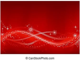 abstrakcyjny, chrismas, tło, czerwony biel