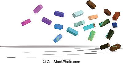 abstrakcyjny, cupes, tło