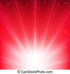 abstrakcyjny, czerwony, wektor, tło