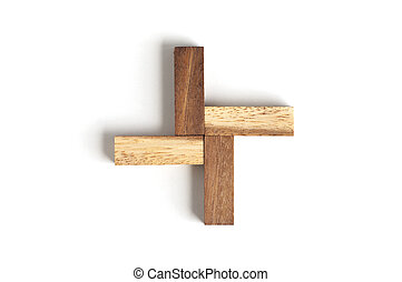 abstrakcyjny, drewno kloc