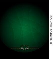 abstrakcyjny, elementy, zielone tło, calligraphic