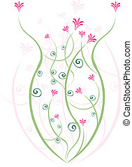 abstrakcyjny, flower.