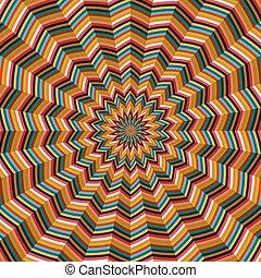 abstrakcyjny, geometryczny, op, sztuka