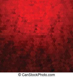 abstrakcyjny, geometryczny, tło, czerwony