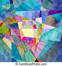 abstrakcyjny, geometryczny, tło