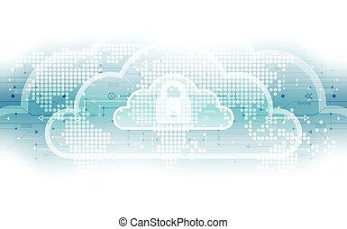 abstrakcyjny, globalny, ilustracja, tło., wektor, cyfrowy, bezpieczeństwo, technologia