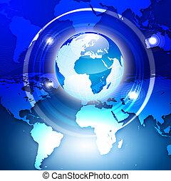 abstrakcyjny, globalny, tło, handlowy
