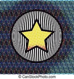 abstrakcyjny, gwiazda, koło, tło