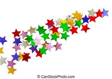 abstrakcyjny, gwiazdy, próbka