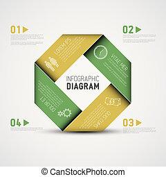 abstrakcyjny, infographic, formułować