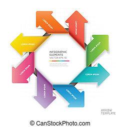 abstrakcyjny, infographics., strzała