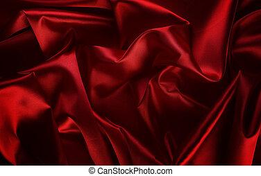 abstrakcyjny, jedwab, czerwone tło