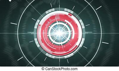 abstrakcyjny, koło, element., cześć-tech
