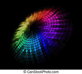 abstrakcyjny, koło