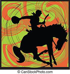 abstrakcyjny, koń, ilustracja