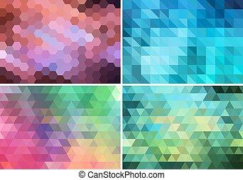 abstrakcyjny, komplet, geometryczny, tło