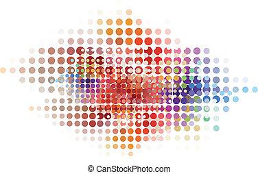 abstrakcyjny, kropka, tło, wektor