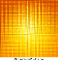 abstrakcyjny, kwadraty, tło, żółty, lustrzany