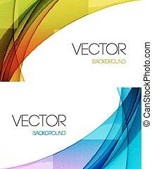 abstrakcyjny, kwestia, tło., projektować, szablon, broszura, łukowaty