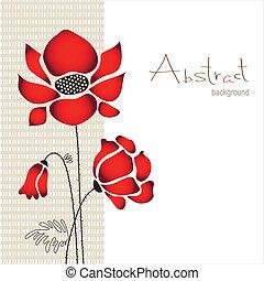 abstrakcyjny, kwiatowy, tło