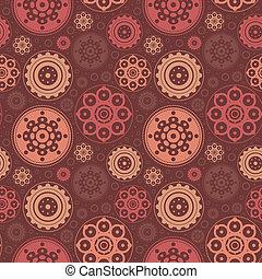 abstrakcyjny, kwiatowy wzór