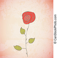 abstrakcyjny, kwiaty