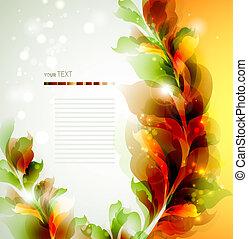 abstrakcyjny, liście