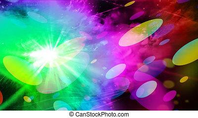 abstrakcyjny, lights., dyskoteka