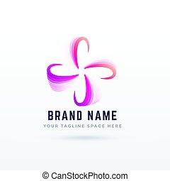 abstrakcyjny, logo, projektować, w, kwiat, styl