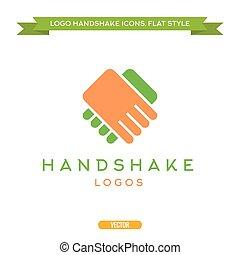 abstrakcyjny, logo, wektor, uzgodnienie, płaski, styl, ikona