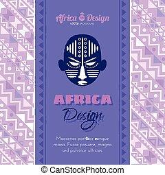 abstrakcyjny, maska, tło, afrykanin