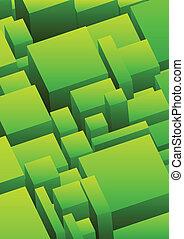 abstrakcyjny, miejski, tło, w, zielony, kolor