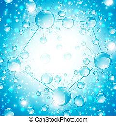 abstrakcyjny, mikrobiologia, komórka, tło