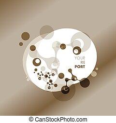 abstrakcyjny, molekuły, design., atoms., medyczny, tło, dla,...