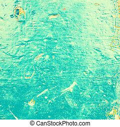abstrakcyjny, morze polewają, textured, tło, w, stary, grunge, style., błękitny, kolor, nafta, malatura, tło.