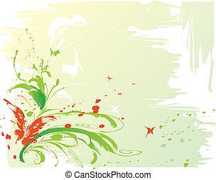 abstrakcyjny, motyle, tło