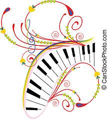 abstrakcyjny, muzyczny