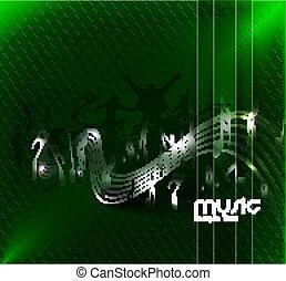 abstrakcyjny, muzyka notatnik, projektować
