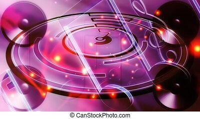abstrakcyjny, muzyka, pętla, dziesięć