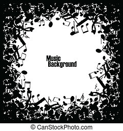 abstrakcyjny, muzyka, tło, z, notatki, wektor
