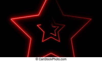 abstrakcyjny, neon, tło, gwiazdy