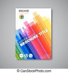 abstrakcyjny, nowoczesny, wektor, projektować, szablon, broszura
