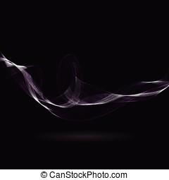 abstrakcyjny, oczekiwacz, fale, na, czarne tło