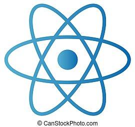 abstrakcyjny, odizolowany, atom