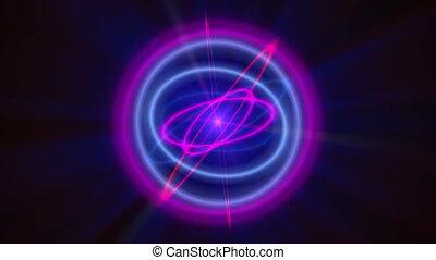 abstrakcyjny, orbita, atom