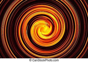 abstrakcyjny, płomień, spirala