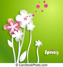 abstrakcyjny, papier, kwiaty