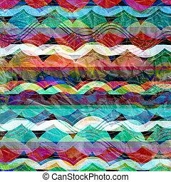 abstrakcyjny, pasy, tło, fale