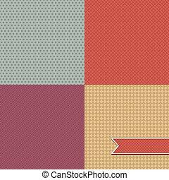 abstrakcyjny, pattern., seamless, retro, tło, szykowny, ...