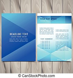 abstrakcyjny, polygonal, lotnik, projektować, szablon, broszura